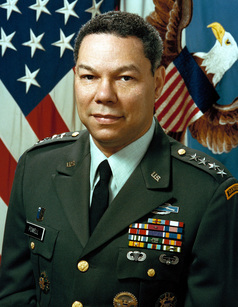 colin powell handwriting